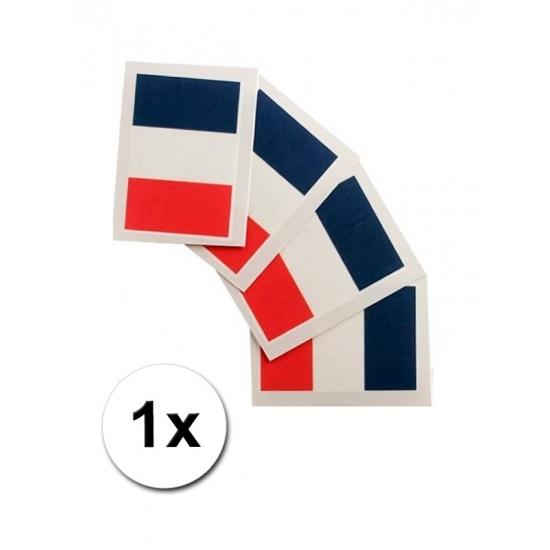 Franse vlag tattoeage