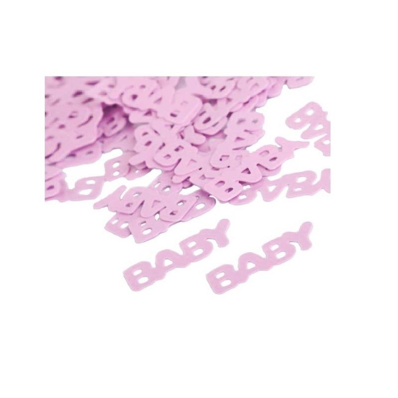 Geboorte meisje confetti lichtroze