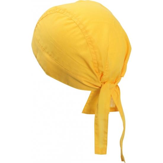 Geel gekleurde bandana uni 1