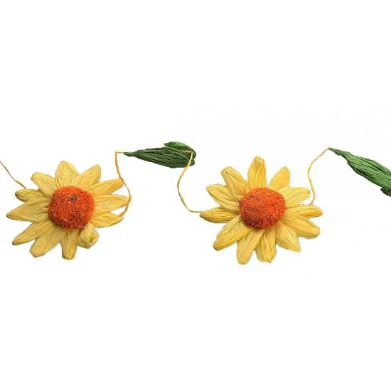 Geel/oranje zonnebloemen slingers