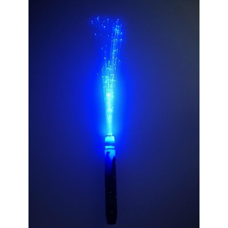 Gekleurde blauwe LED licht stick met fiber