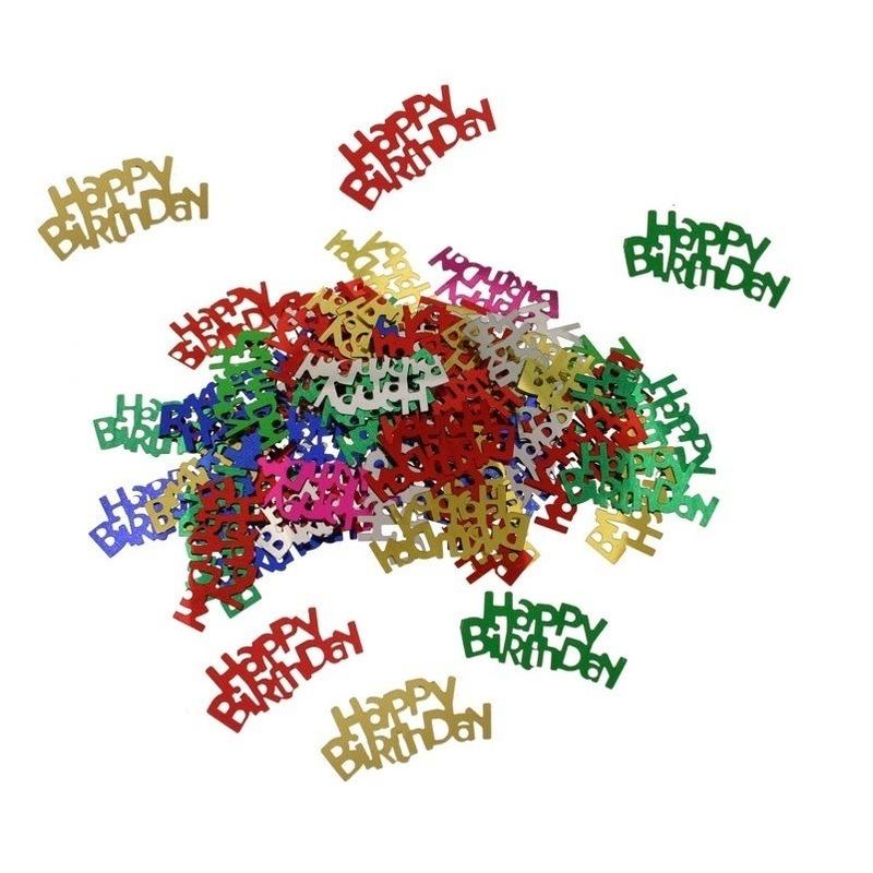 Gekleurde Happy Birthday verjaardag confetti 15 gram