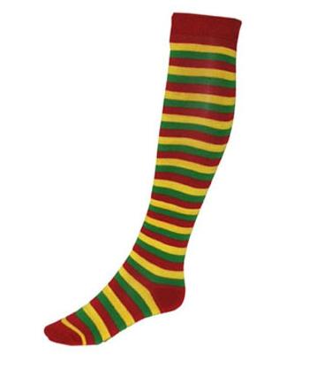 Gekleurde kniekousen-sokken voor dames