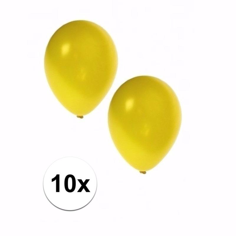 Gele grote ballonnen 10 stuks