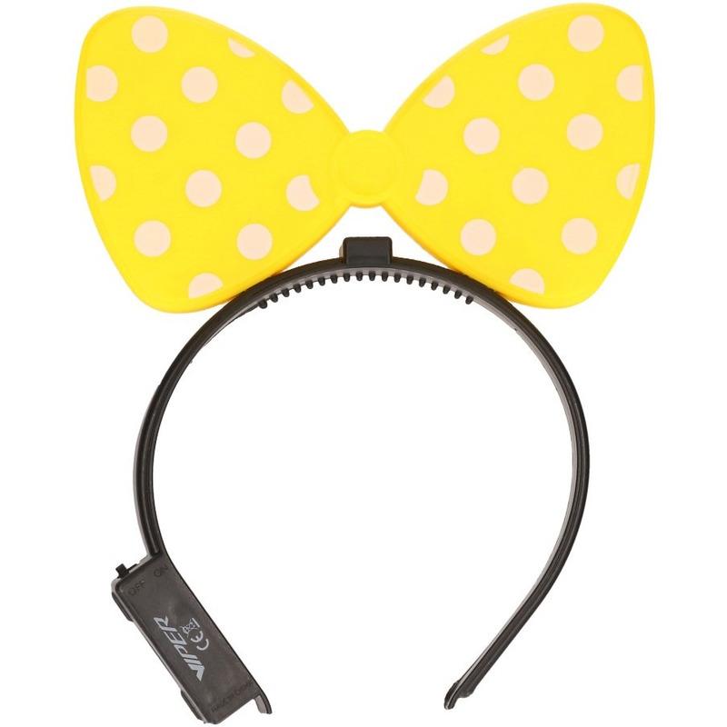 Gele strik haarband met verlichting