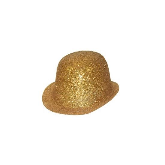 Goud glitter bolhoedje