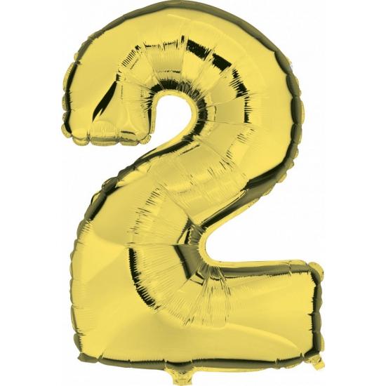Gouden ballon cijfer 2