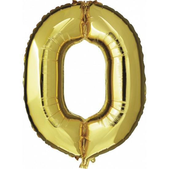 Gouden ballon cijfer nul