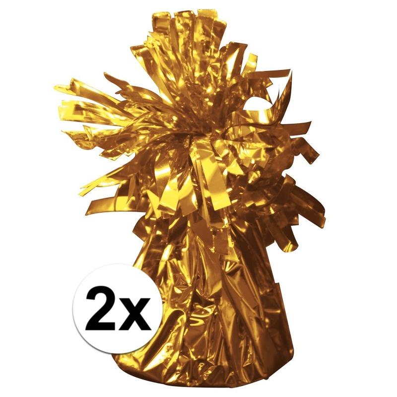 Gouden ballonnen gewichten 2 stuks