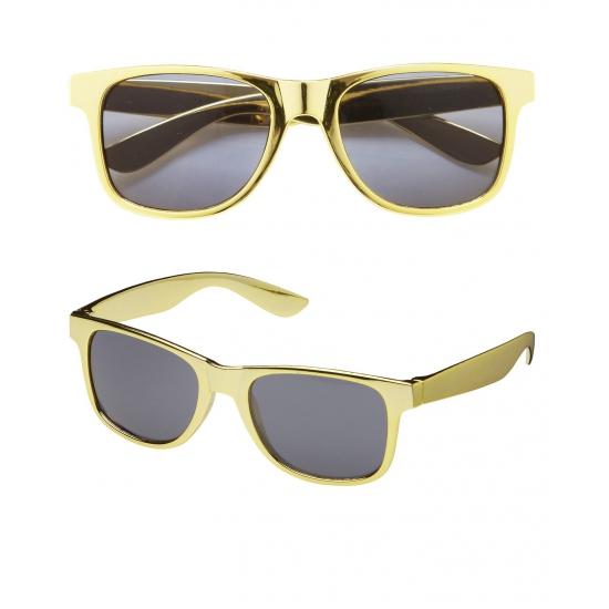 Gouden bril met donkere glazen