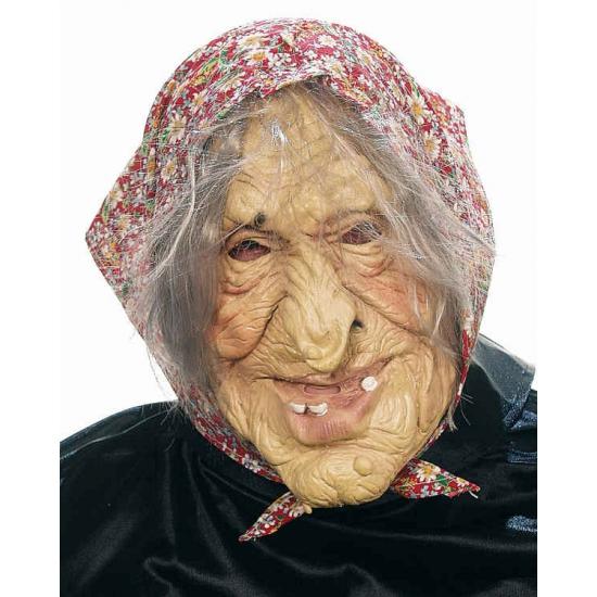 Griezelige oude vrouw verkleedmasker