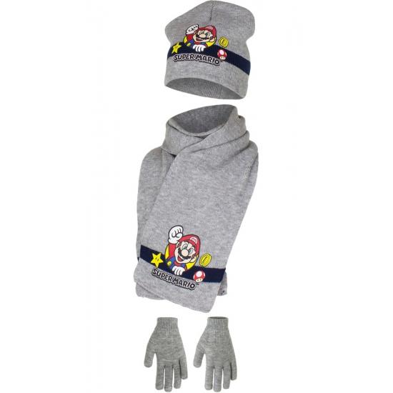 Grijs Super Mario winterset