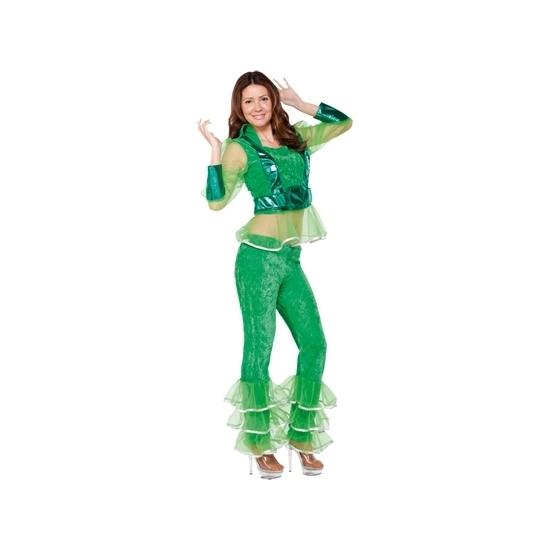 Groen disco kostuum voor dames