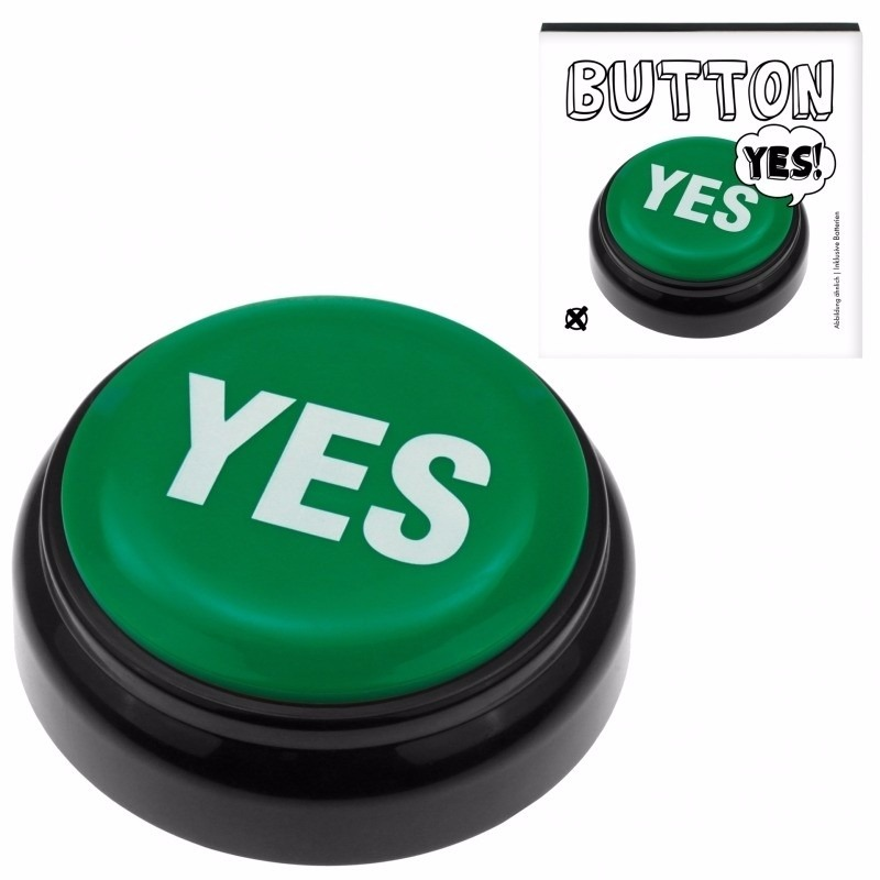 Groene buzzer met YES geluid