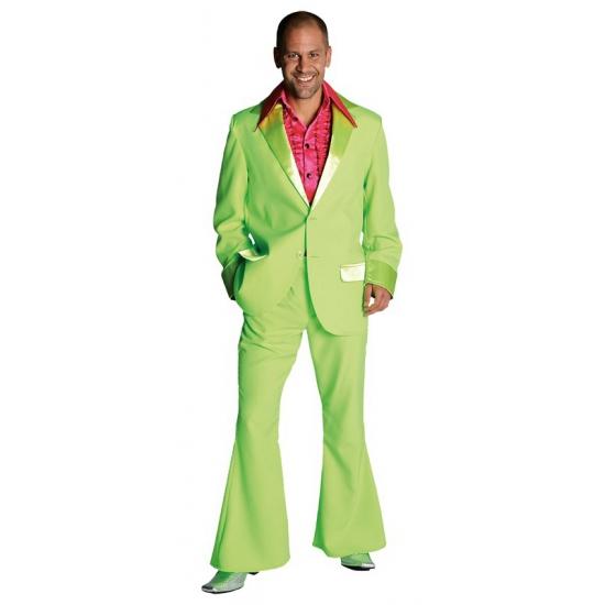 Groene colbert en broek voor heren
