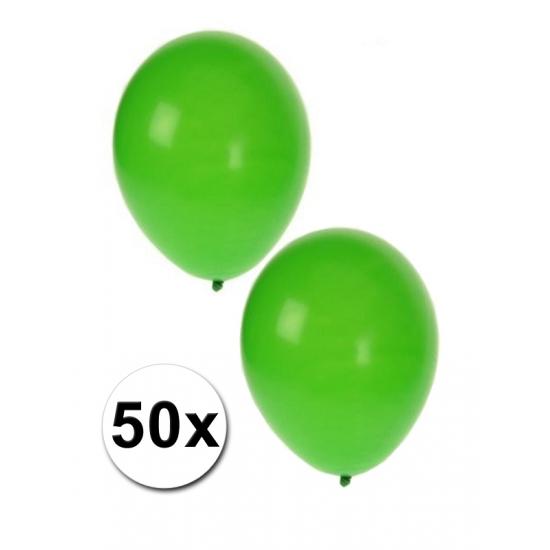 Groene feest ballonnen 50 stuks
