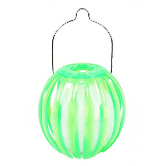 Groene solarlampion plastic 11 cm