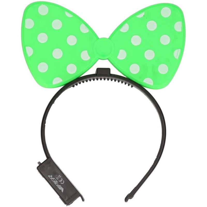 Groene strik haarband met verlichting