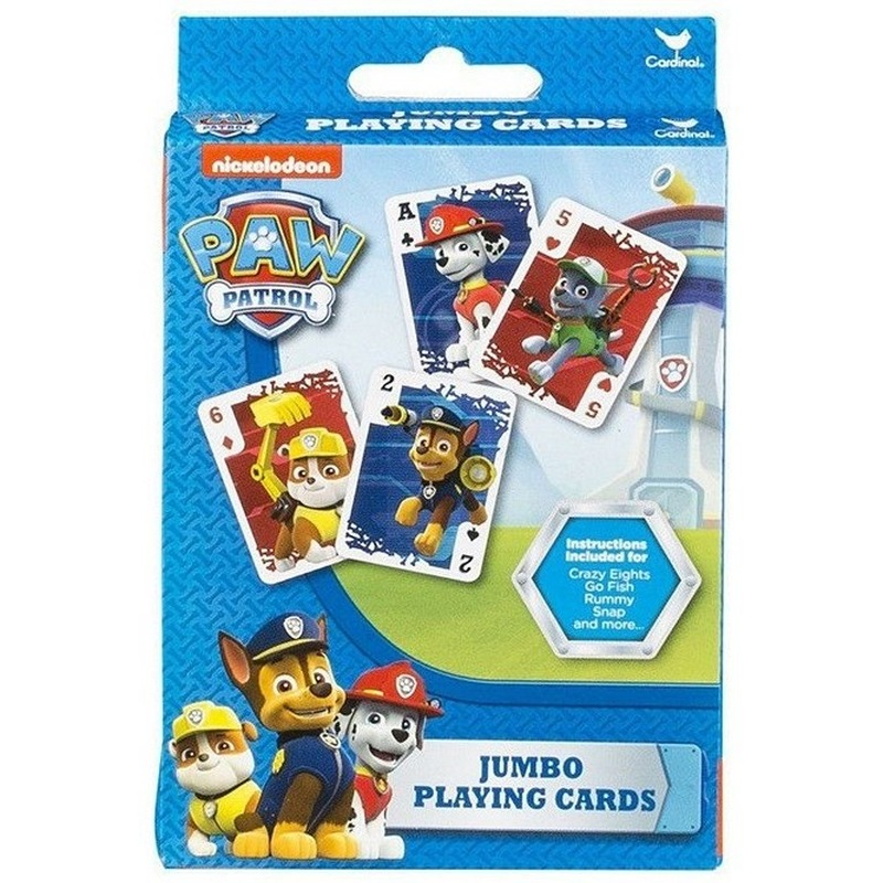 Grote kinder Paw Patrol kaartspel