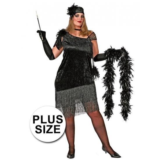 04188508efa Grote maat Charleston kostuum dames voor een Disco party