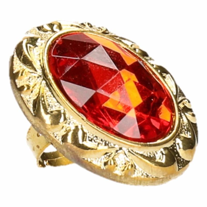Grote rode Sinterklaas ring