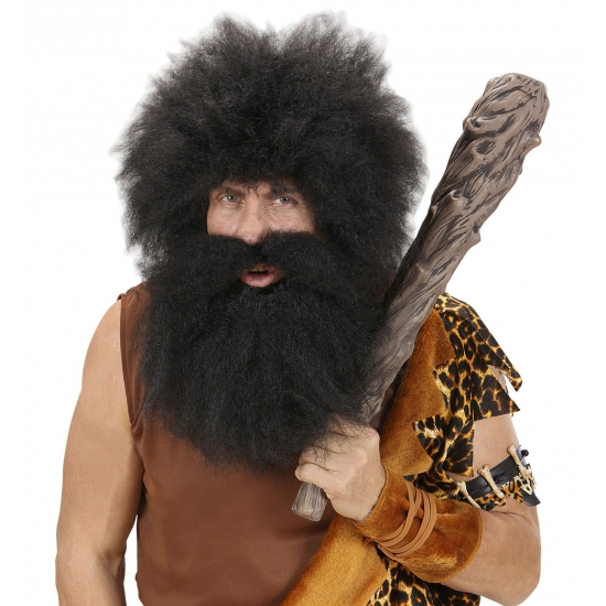 Grote wilde baard in het zwart