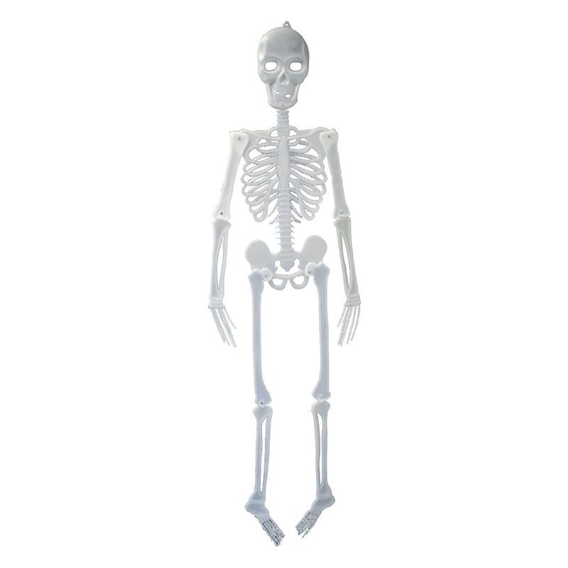Hangdecoratie skelet glow in the dark 150 cm