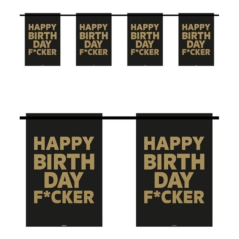 Happy Birthday F*cker 6m slingers verjaardag