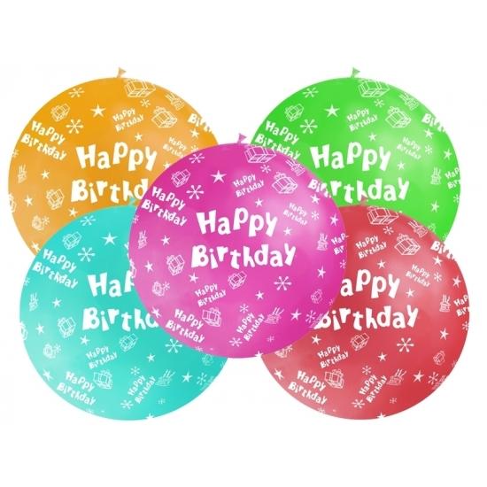 Happy Birthday versiering mega ballon