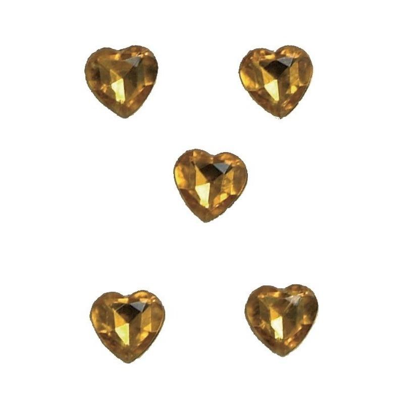 Hartjes diamanten goud 20 stuks