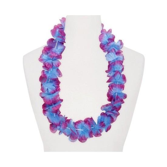 Hawaii krans paars/blauw