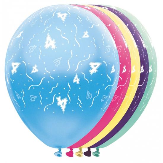 Helium leeftijd ballon 4 jaar