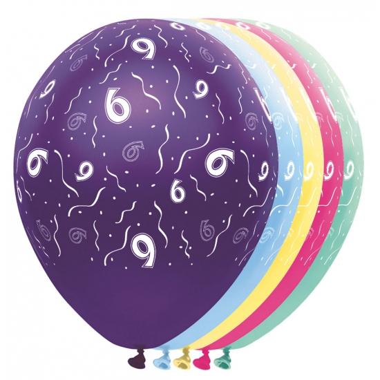 Helium leeftijd ballon 6 jaar