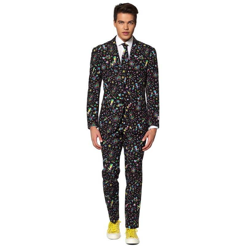 Heren verkleedkostuum Disco Dude business suit