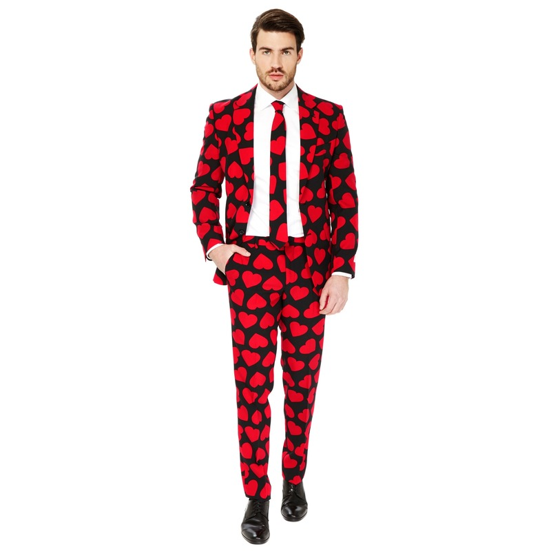 Heren verkleedkostuum King Of Hearts business suit