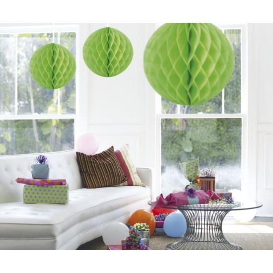 Honeycomb ballen lime groen 50 cm