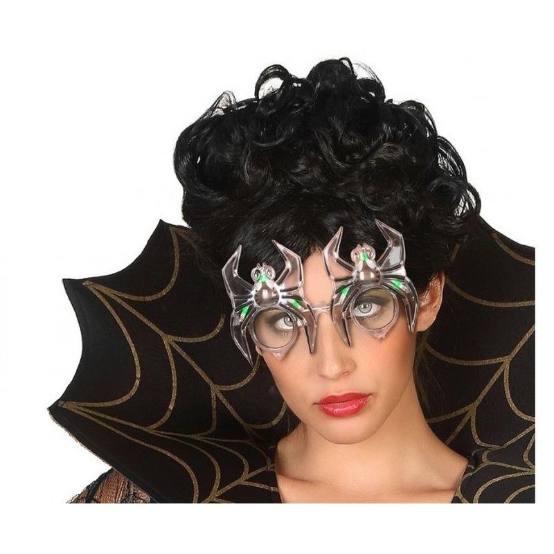Horror spinnen bril met verlichting voor volwassenen