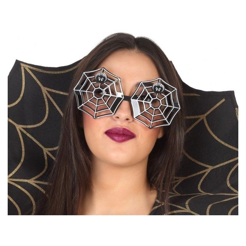 Horror spinnenweb verkleed bril voor volwassenen