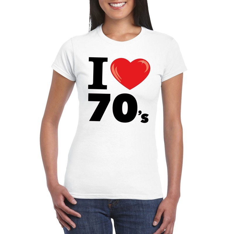 I love 70's t-shirt wit dames