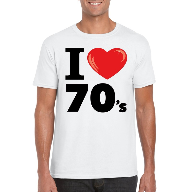 I love 70's t-shirt wit heren