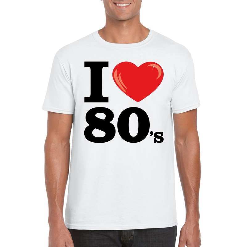 I love 80's t-shirt wit heren