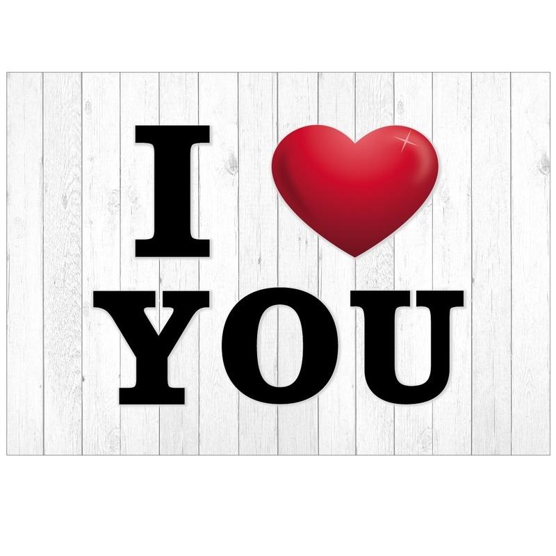 I Love You wenskaart/ansichtkaart