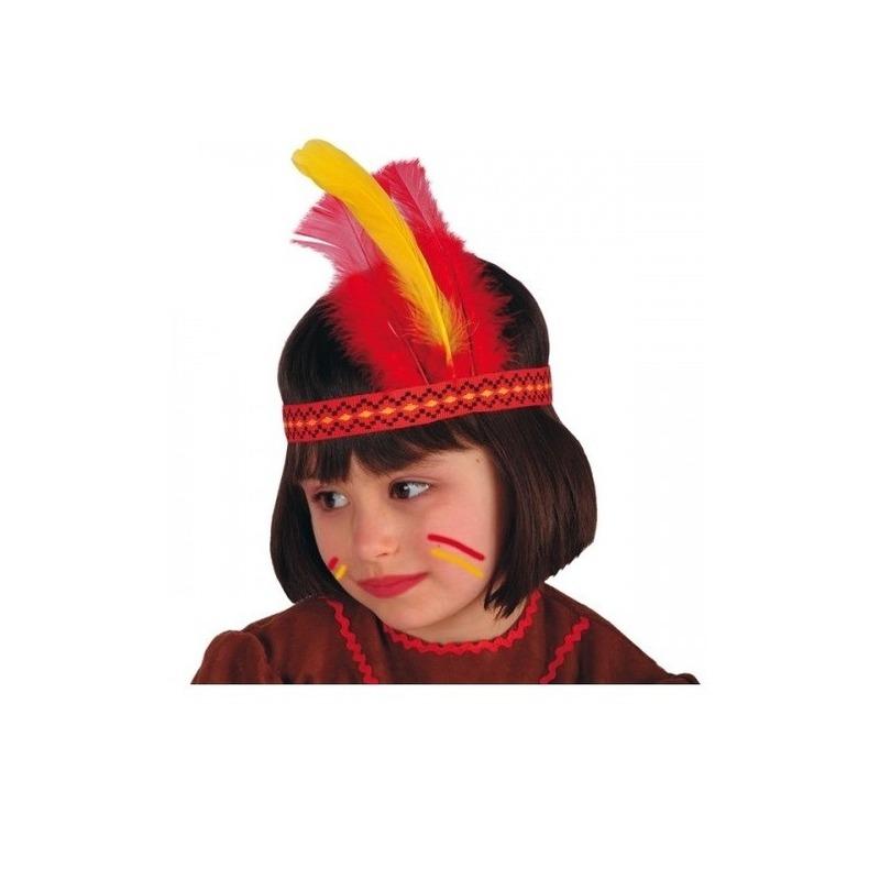 Indianentooi gekleurde veren kind