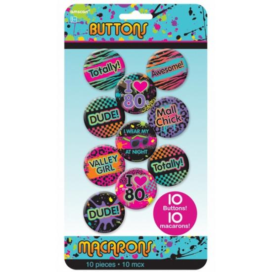 Jaren tachtig buttons groovy