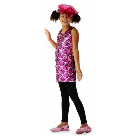 Jurkje met roze pailletten voor meisjes