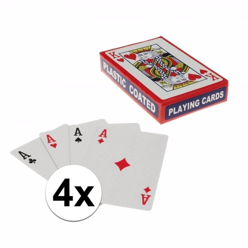 Kaartspellen 4 pakjes