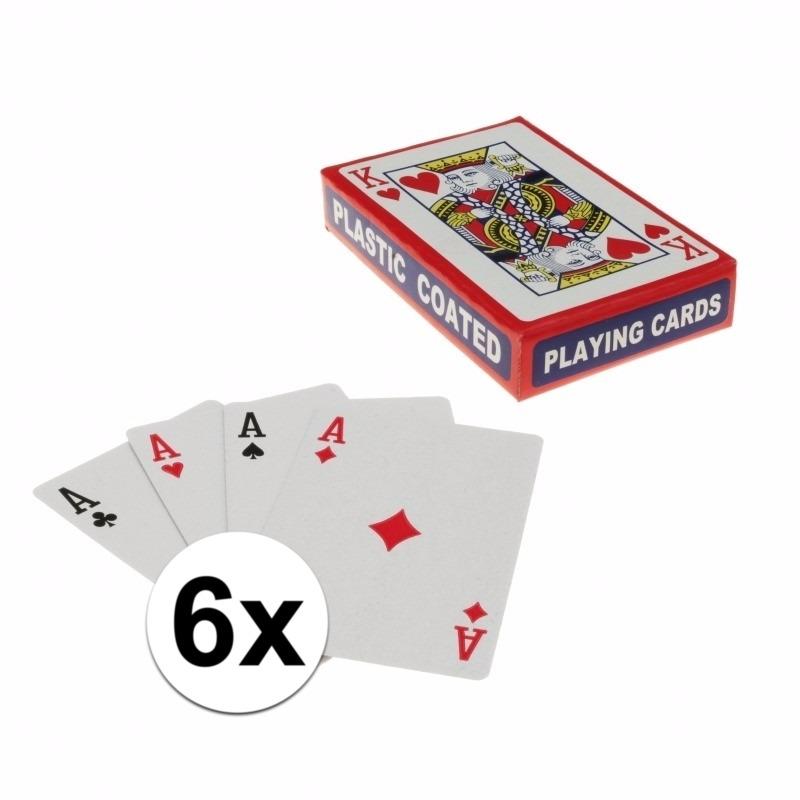 Kaartspellen 6 pakjes