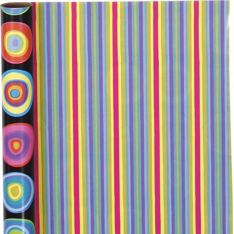Kadopapier dubbelzijdig gekleurd