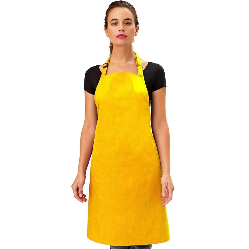 Katoenen keukenschort Premier geel
