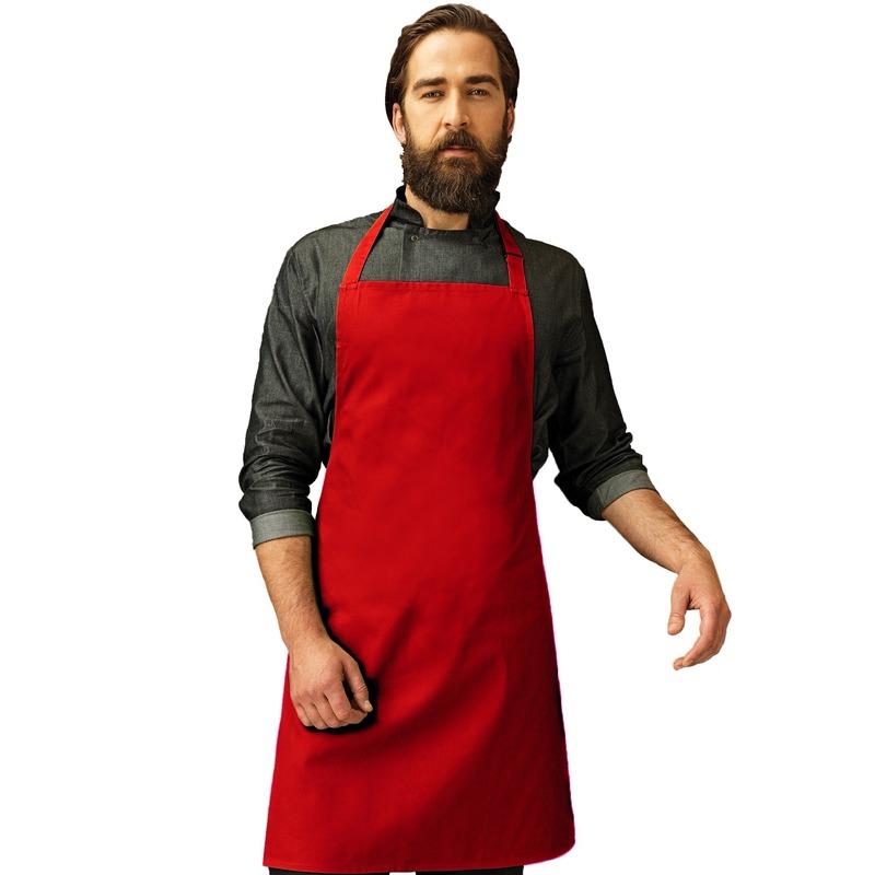 Katoenen keukenschort Premier rood
